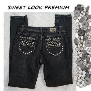 Sweet Look Premium Black Embellished Jeans 5